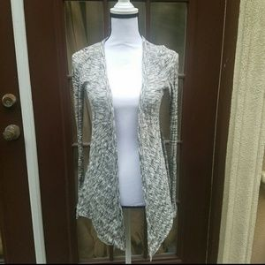 Silence +noise  heather grey cardigan size medium